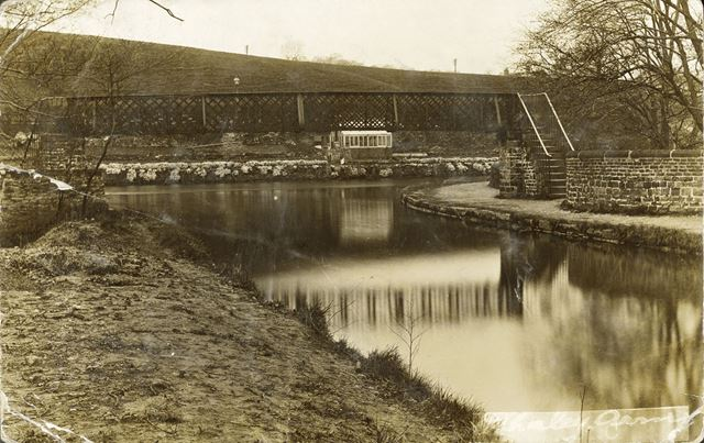 Buxworth Arm of Peak Forest Canal, Whaley Bridge, c 1910s
