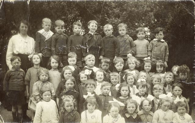 Infant Class, St. Mary's School, Stockport, c 1910s