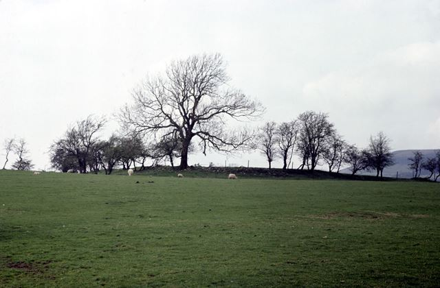 Remains of Navio, a Roman hill fort, Brough, Hope Valley, 1976