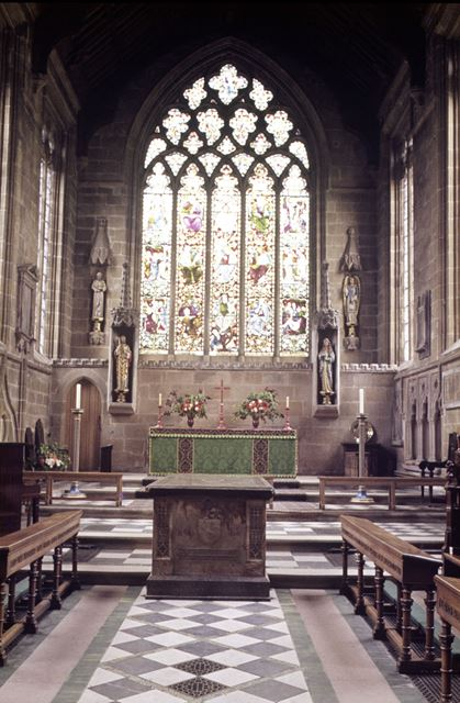 Chancel, Tideswell Church, 'The Cathedral of the peak', Tideswell, Buxton, 1969