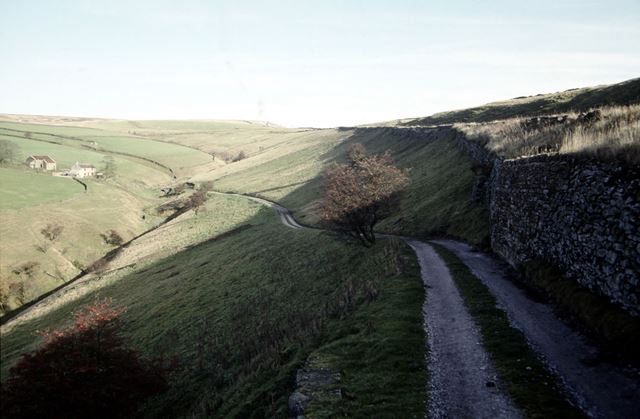 View of Bettfield Farm, Clough and Turnpike, Chapel-en-le-Frith, High Peak, 1992