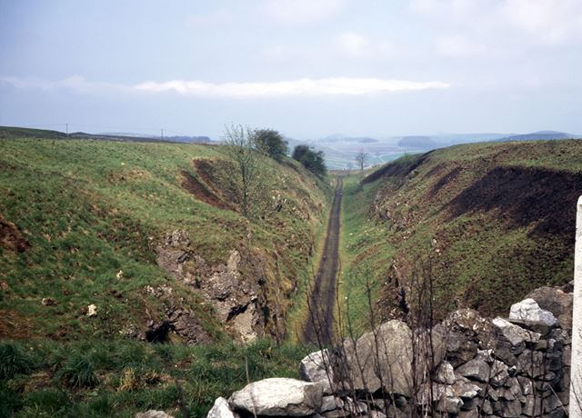 Cromford and High Peak Railway from Newhaven Road Tunnel, nr Parsley Hay, 1972