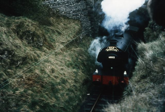 Steam Train Leaving Newhaven Road Tunnel, nr Parsley Hay, 1967