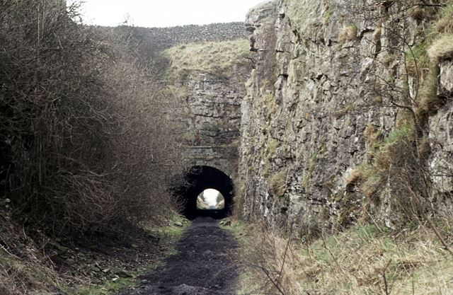 East End of Hopton Tunnel, CHPR, Middleton by Youlgreave, 1975