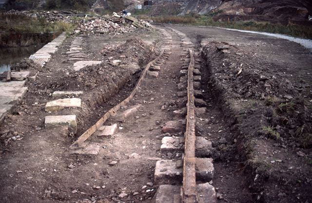 Exposed Track of Peak Forest Tramway, Bugsworth, 1985