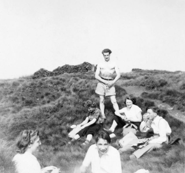 Church Members Camping at Kinder Scout, Edale, 1960s