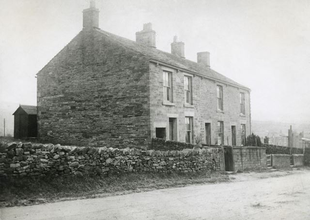Derby Terrace - the First Houses on Buxton Road, Chinley, c 1890s-1900s