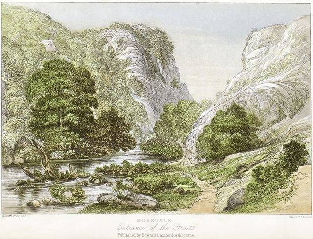 Entrance of the Straits, Dovedale, by Edward Price (1800-c1885), c 1868?