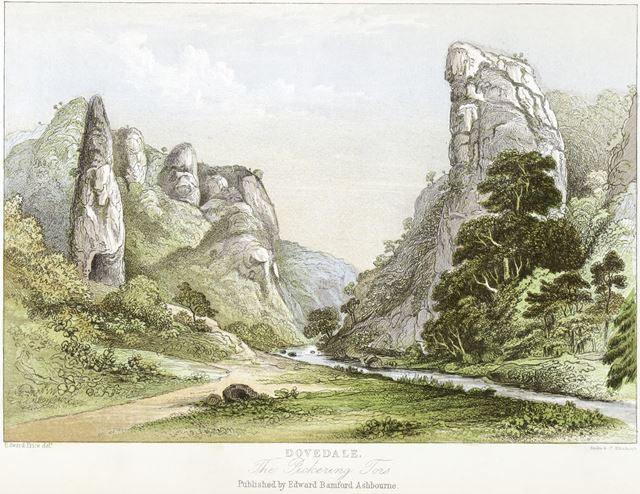 The Pickering Tors, Dovedale, by Edward Price (1800-c1885), c 1868?