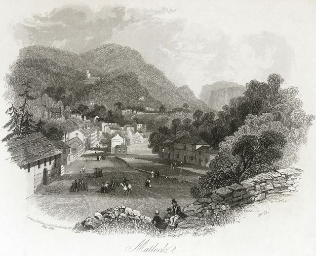 View Towards the Royal Museum, Derby Road, Matlock Bath, 1840