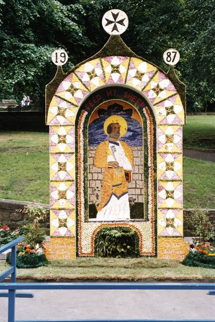 Well Dressing, Buxton, 1987