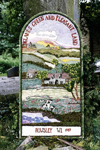 Well Dressing, Rowsley, 1987