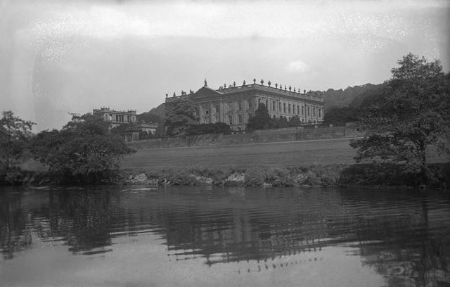 View from the River Derwent, Chatsworth, c 1911 ?