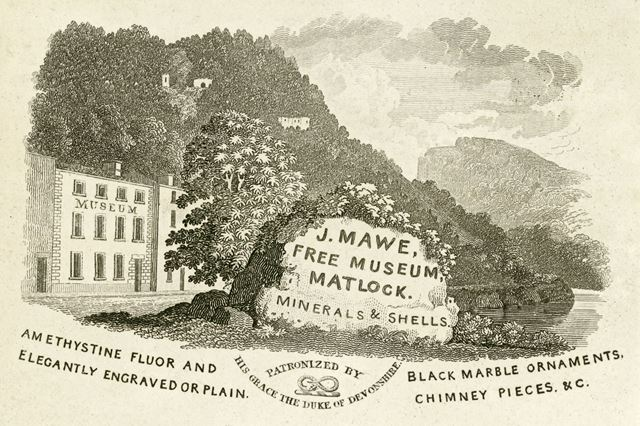 J Mawe's Free Museum (The Royal Museum), now the South Parade, A6, Matlock Bath, c 1830