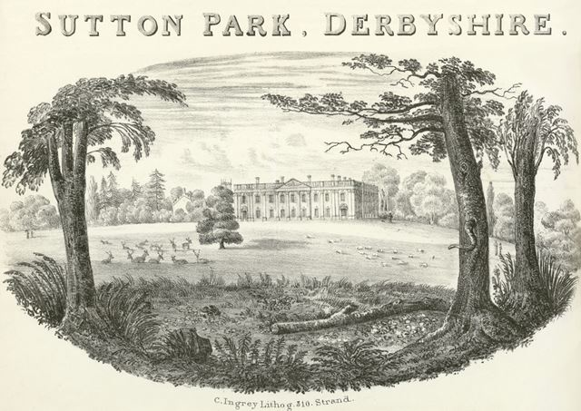 Sutton Hall (now Sutton Scarsdale Hall), Hall Drive, Sutton Scarsdale, Chesterfield, c 1800?