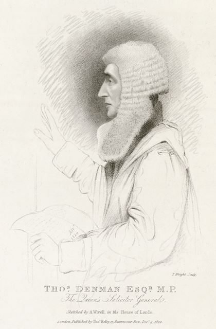 Dr Thomas Denman MD (1779û1854), House of Lords, Westminster, London, 1820