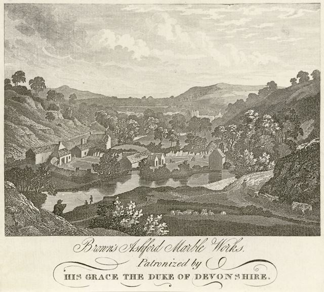 Brown's Ashford Mable Works, Ashford in the Water, Bakewell, c 1825