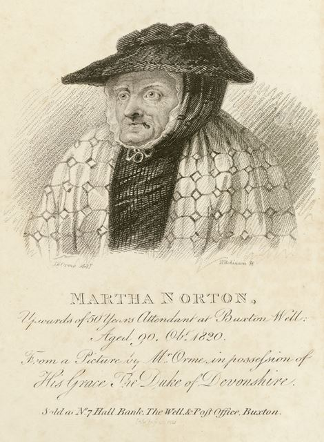Martha Norton, Well Attendant for 50 years at St Ann's Well, The Crescent, Buxton, 1821