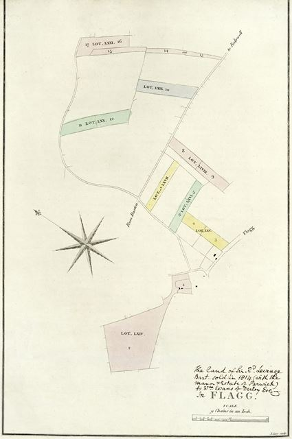 Map of Flagg, c 1815?