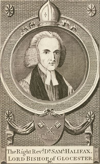 The Right Reverend Dr Samuel Halifax, Lord Bishop of Gloucester, c 1800?