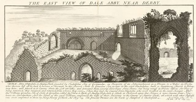 The East View of Dale Abbey, 1727