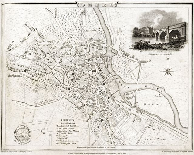 Plan of the town of Derby, 1806