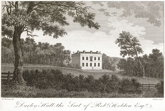 'Darley Hall, the seat of Robert Holden Esquire', Darley Park, c 1810?
