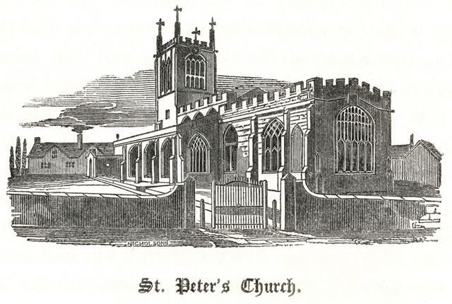 St Peter's Church from the southeast, St Peter's Street, c 1890