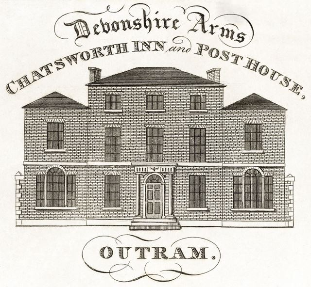 Chatsworth Inn and Post House (now The Chatsworth Estate Office), Edensor, c 1800?