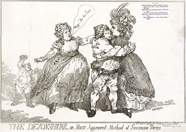 'Most Approved Method of Securing Votes' by Duchess of Devonshire, 1784