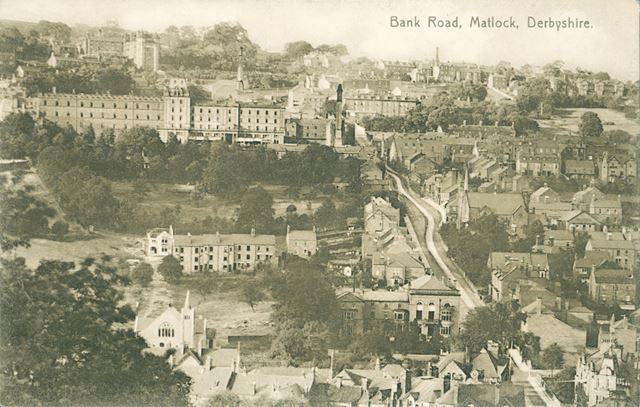View over Matlock and Bank Road from above the Station, Matlock, c 1900-20?