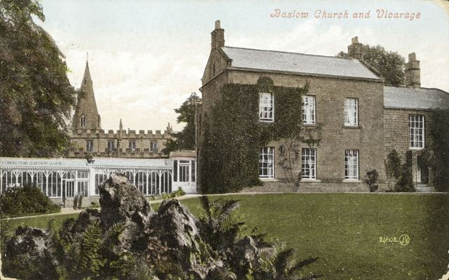 St Anne's Church and Vicarage, Baslow, c 1900s?
