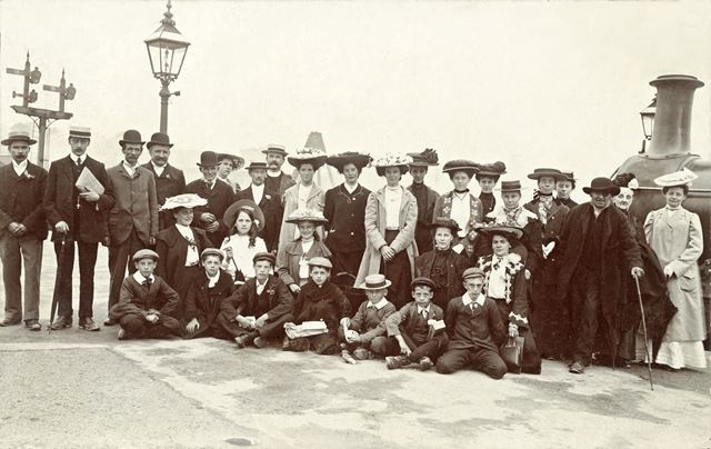 andquot;The Choirandquot;, annual outing, possibly in the Southwell area, c 1900s