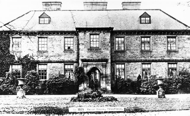 The Manor House, High Street, Dronfield, c 1910