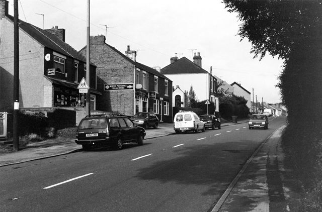 Post Office and Newsagent's shops on the Main Road, Morton