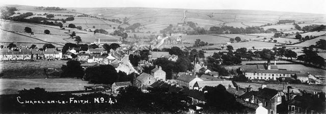 Panoramic view looking east, Chapel-en-le-Frith, 1912