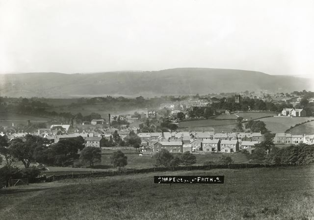 View from above Townend, Chapel en le Frith, c 1900s