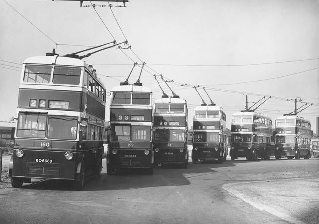 Derby Corporation trolley buses Nos.159-164