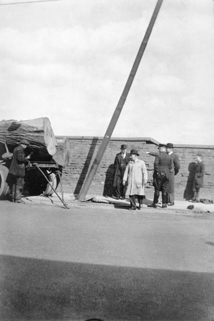 Collision with a trolleybus traction pole, possibly at Litchurch