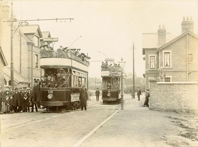 Opening of Normanton Road electric tramway route