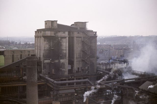 An elevated general view of the Coke Oven Plant, Stanton Works