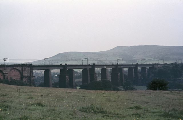 Dinting Railway Viaduct, Near Glossop, Dinting, 1964