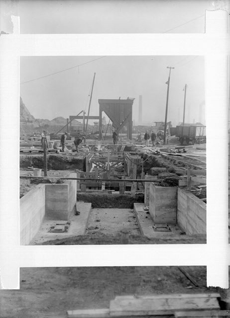 Construction of Scale Pit at the Old Works