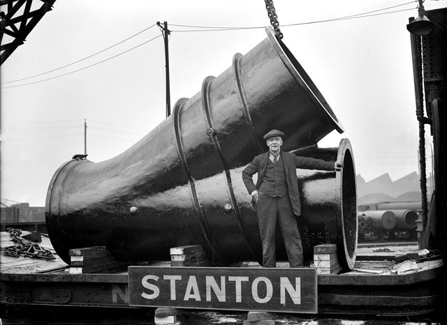 54-inch flanged Y junction pipe