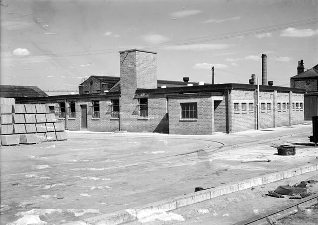 New Ablutions Block at Concrete Plant, Stanton Works, 1949