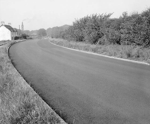 Re-Surfaced Mansfield Road, Bestwood, Nottingham, c 1950s?