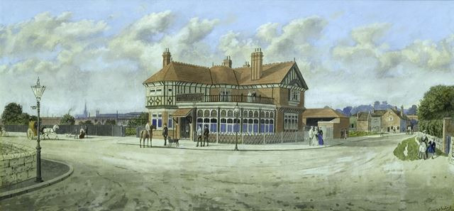 Coach and Horses Inn, Mansfield Road, Little Chester, Derby, 1893