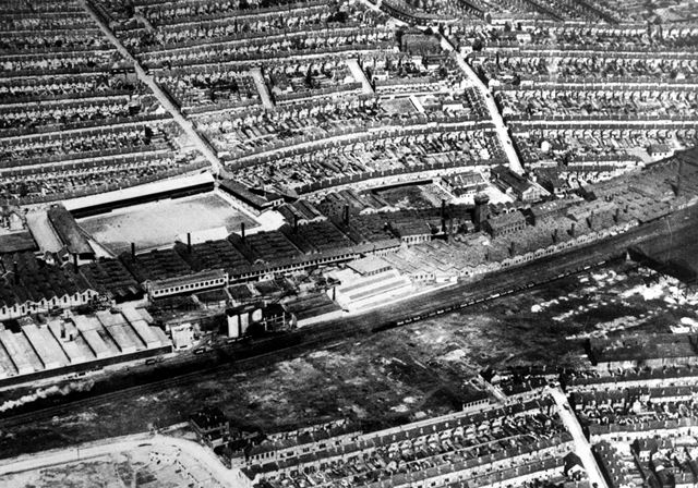 Aerial View of Leys Foundry, Litchurch, Derby, 1938