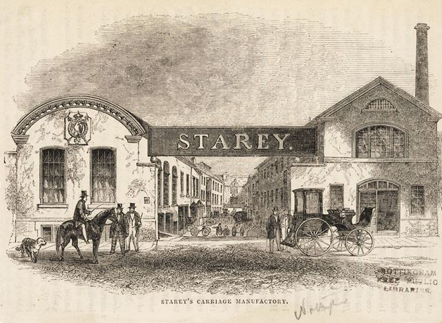 'Starey's Carriage Manufactory' c 1850's?