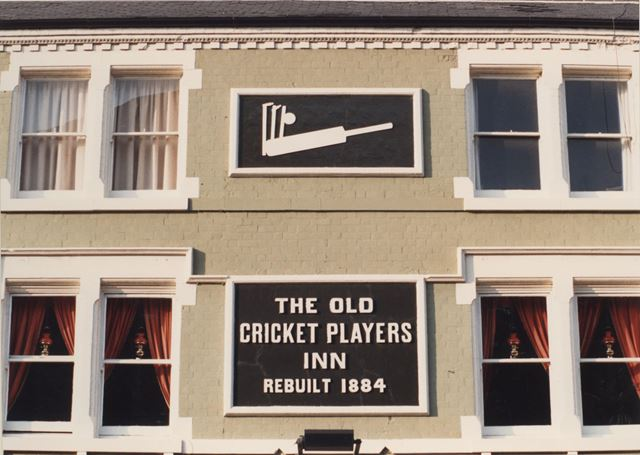 The Old Cricket Players Public House - sign